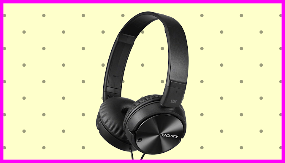 Save 42% on these Sony MDRZX110NC noise canceling headphones.  (Photo: Amazon)