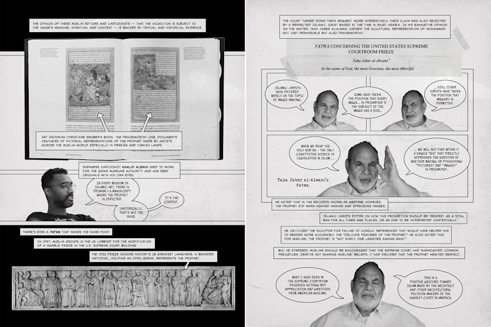 """Some pages from """"Red Lines"""", an upcoming collaboration between cartoonist Sonny Liew and media scholar Cherian George. (Images courtesy of Sonny Liew)"""