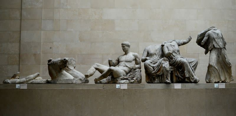 FILE PHOTO: The Parthenon Marbles are displayed at the British Museum in London