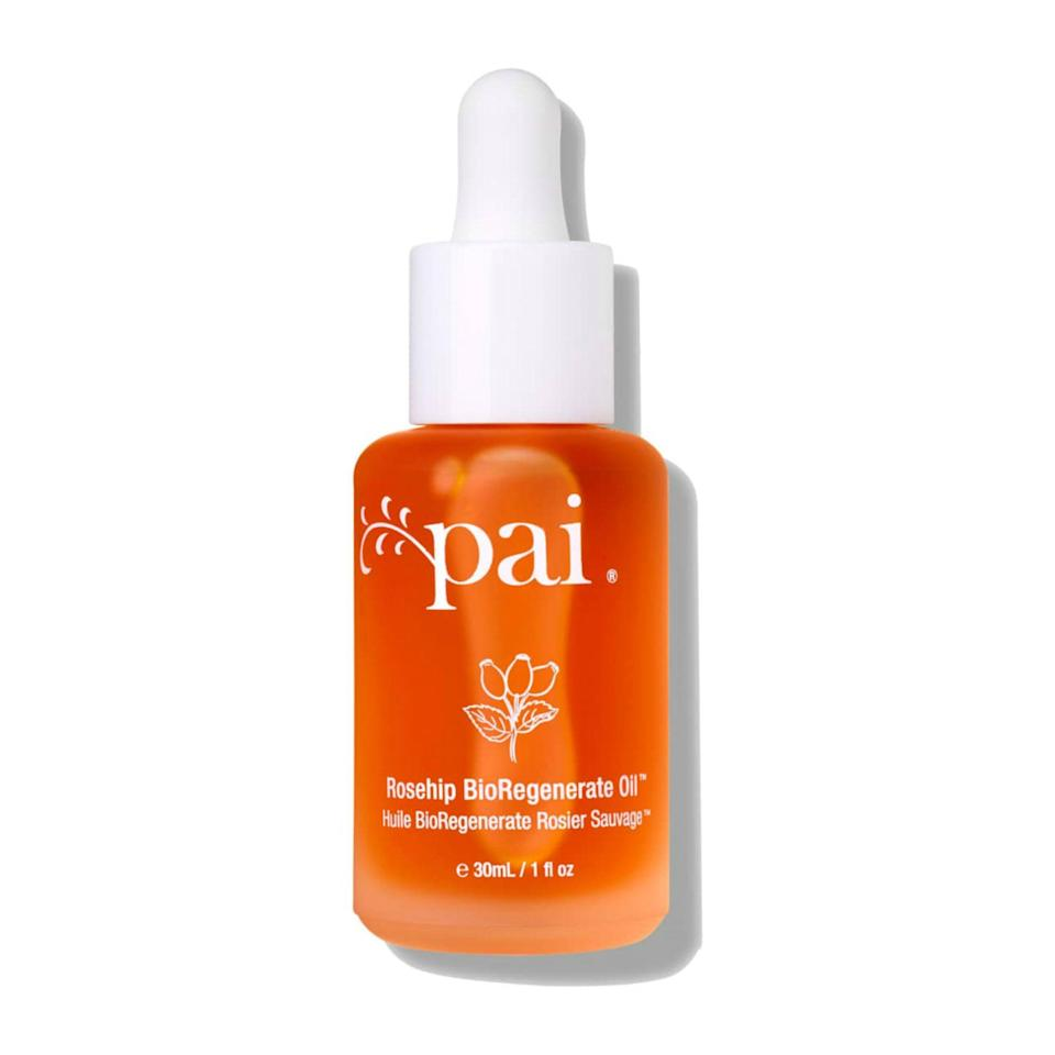 "<p>Pai's Rosehip Bioregenerate Oil is packed with omega fatty acids to plump up skin, and over time, it addresses concerns like dullness, sun damage, and dryness. Plus, this oil is gentle enough to use on all skin types, including <a href=""https://www.allure.com/gallery/best-eczema-products-to-relieve-itch?mbid=synd_yahoo_rss"" rel=""nofollow noopener"" target=""_blank"" data-ylk=""slk:eczema-prone skin."" class=""link rapid-noclick-resp"">eczema-prone skin.</a></p> <p><strong>$40</strong> (<a href=""https://www.amazon.com/Pai-Skincare-Rosehip-BioRegenerate-Oil/dp/B004SUH21I"" rel=""nofollow noopener"" target=""_blank"" data-ylk=""slk:Shop Now"" class=""link rapid-noclick-resp"">Shop Now</a>)</p>"
