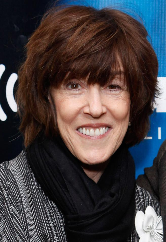 "NEW YORK, NY - APRIL 11:  Director Nora Ephron visits SiriusXM's ""The wowOwow Radio Show"" at SiriusXM Studio on April 11, 2012 in New York City.  (Photo by Cindy Ord/Getty Images)"