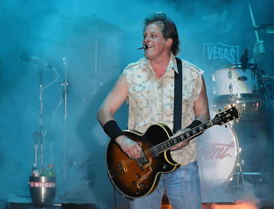 Recording artist Ted Nugent performs at the Sunset Amphitheater at the Sunset Station Hotel & Casino on July 1, 2017 in Henderson, Nevada. (Photo: Getty Images)