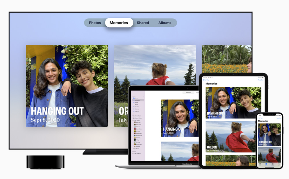 Apple Photos on a TV, MacBook, iPad and iPhone