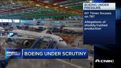 c0677b8a8 CNBC's Phil LeBeau discusses a new report on manufacturing concerns  surrounding Boeing's 787 ...