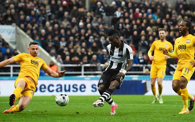 Atsu puts Newcastle back in front - Credit: Stu Forster/Getty Images