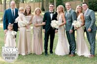 <p>The couple with Parker's parents, siblings Tyler and Grace and their spouses, as well as her nieces.</p>