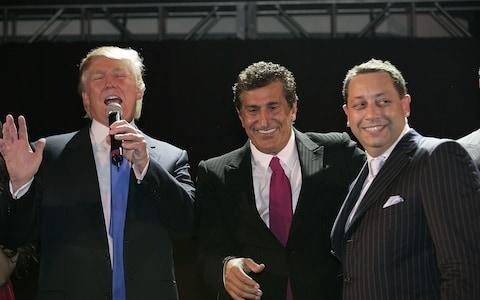 <span>Donald Trump, Tevfik Arif (centre) and Felix Sater (right) attend the Trump SoHo launch party on September 19, 2007 in New York</span>