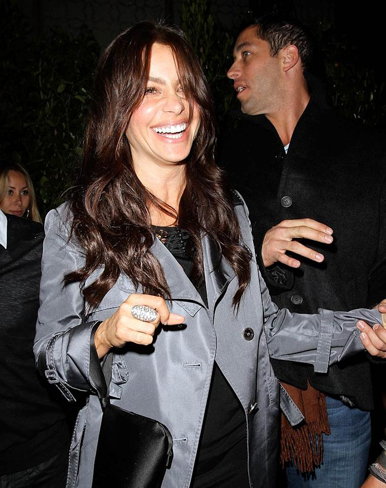 "Looks like Sofia Vergara had a blast! Perhaps the Colombian beauty was celebrating the success of her show, ""Modern Family,"" which picked up a prestigious Peabody Award this month. EPA/<a href=""http://www.x17online.com"" target=""new"">X17 Online</a> - April 22, 2010"