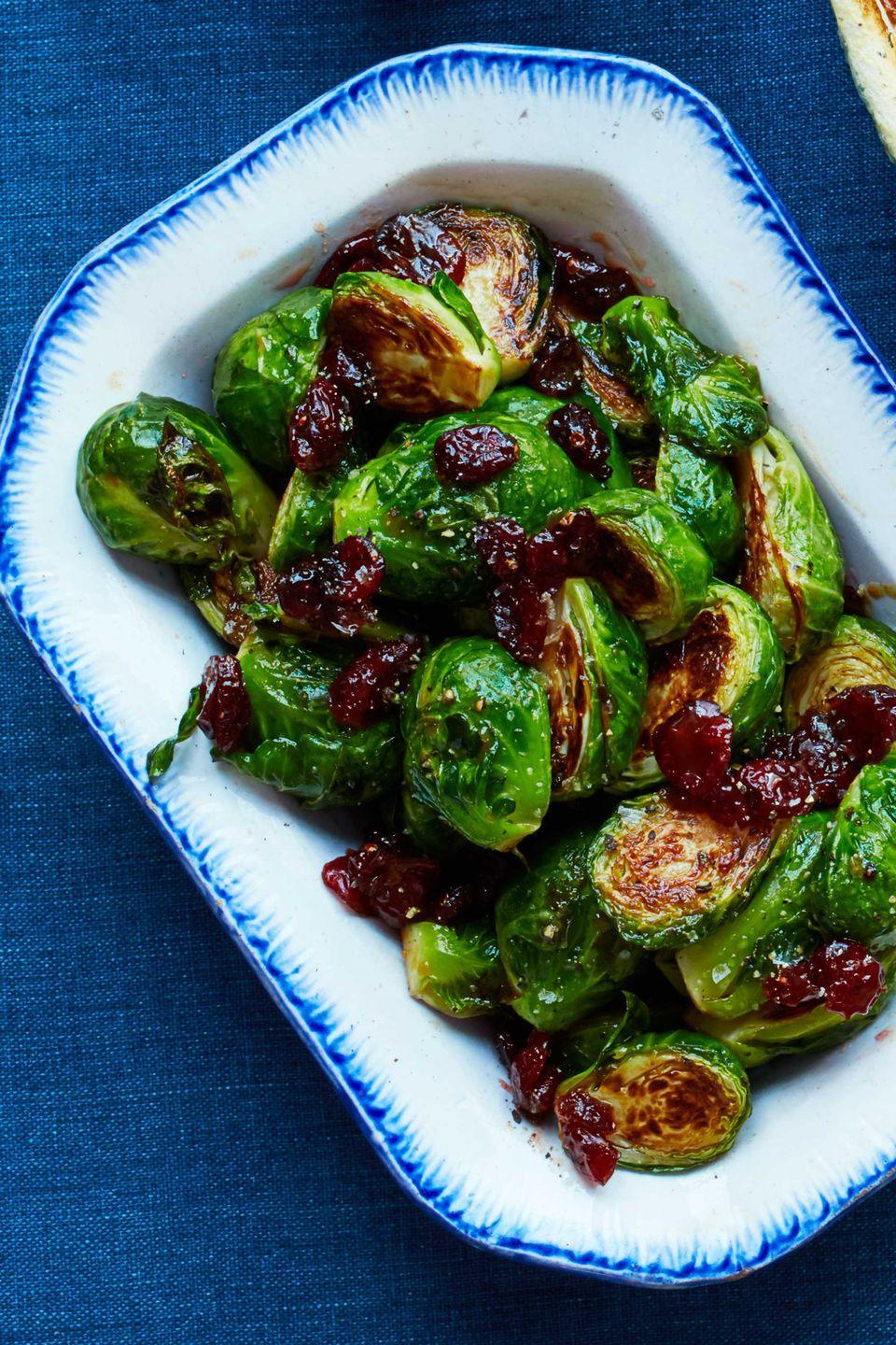 """<p>With just three ingredients, these sprouts couldn't be any easier. The trick is reducing the cider, which makes them taste fancier than they are.</p><p><a href=""""https://www.womansday.com/food-recipes/food-drinks/recipes/a56467/cider-glazed-brussels-sprouts-recipe/"""" rel=""""nofollow noopener"""" target=""""_blank"""" data-ylk=""""slk:Get the Cider-Glazed Brussels Sprouts recipe."""" class=""""link rapid-noclick-resp""""><em><strong>Get the Cider-Glazed Brussels Sprouts recipe.</strong></em></a></p><p><strong>What You'll Need: </strong><a href=""""https://www.amazon.com/dp/B0026RHI3M/ref=dp_prsubs_3?tag=syn-yahoo-20&ascsubtag=%5Bartid%7C10070.g.16%5Bsrc%7Cyahoo-us"""" rel=""""nofollow noopener"""" target=""""_blank"""" data-ylk=""""slk:Good Cook non-stick baking sheet"""" class=""""link rapid-noclick-resp"""">Good Cook non-stick baking sheet</a> ($18 for 3, Amazon)<br></p>"""