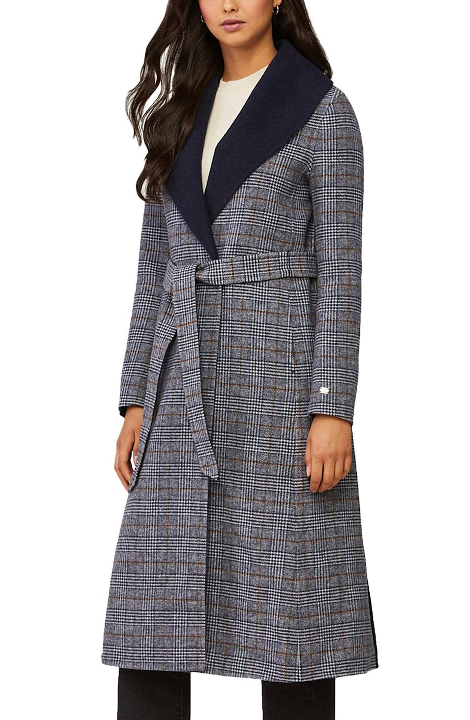 Soia & Kyo Eleonore Plaid Wool Blend Coat. Image via Nordstrom.