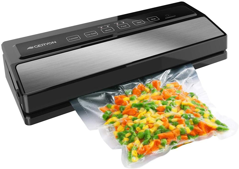 """This will pair nicely with a sous vide — or you can simply use it for safely storing leftovers (or the other half of an avocado!) for longer periods of time.<br /><br /><strong>Promising review:</strong>""""I had one of these machines from a well-known company for about 10 years, and it finally quit working. I bought a new one from the same company, and it was junk. This one was highly rated in a bunch of articles from different magazines, so I gave it a try. Wow. It's amazing! Pretty quiet (unlike my other one) and has great suction. There's a trough that you have to put the end of the bag in, or it won't work. Took me a couple of tries to figure that out. Also, make sure you press down HARD on both sides of the machine when you close it. Don't worry... you won't break it lol. It's totally worth the money."""" —<a href=""""https://www.amazon.com/dp/B07B4W5PMB?tag=huffpost-bfsyndication-20&ascsubtag=5833640%2C36%2C43%2Cd%2C0%2C0%2C0%2C962%3A1%3B901%3A2%3B900%3A2%3B974%3A3%3B975%3A2%3B982%3A2%2C16261711%2C0"""" target=""""_blank"""" rel=""""noopener noreferrer"""" data-a-size=""""small"""">Traci</a><a href=""""https://www.amazon.com/gp/customer-reviews/R213RKNHZVC6EO/"""" target=""""_blank"""" rel=""""noopener noreferrer""""><br /></a><br /><strong>Get it from Amazon for<a href=""""https://www.amazon.com/dp/B07B4W5PMB?tag=huffpost-bfsyndication-20&ascsubtag=5833640%2C36%2C43%2Cd%2C0%2C0%2C0%2C962%3A1%3B901%3A2%3B900%3A2%3B974%3A3%3B975%3A2%3B982%3A2%2C16261711%2C0"""" target=""""_blank"""" rel=""""noopener noreferrer"""">$47.99+</a>(available in two colors).</strong>"""