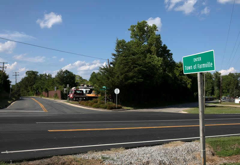 FILE PHOTO: The road that leads to the ICE detention facility in Farmville