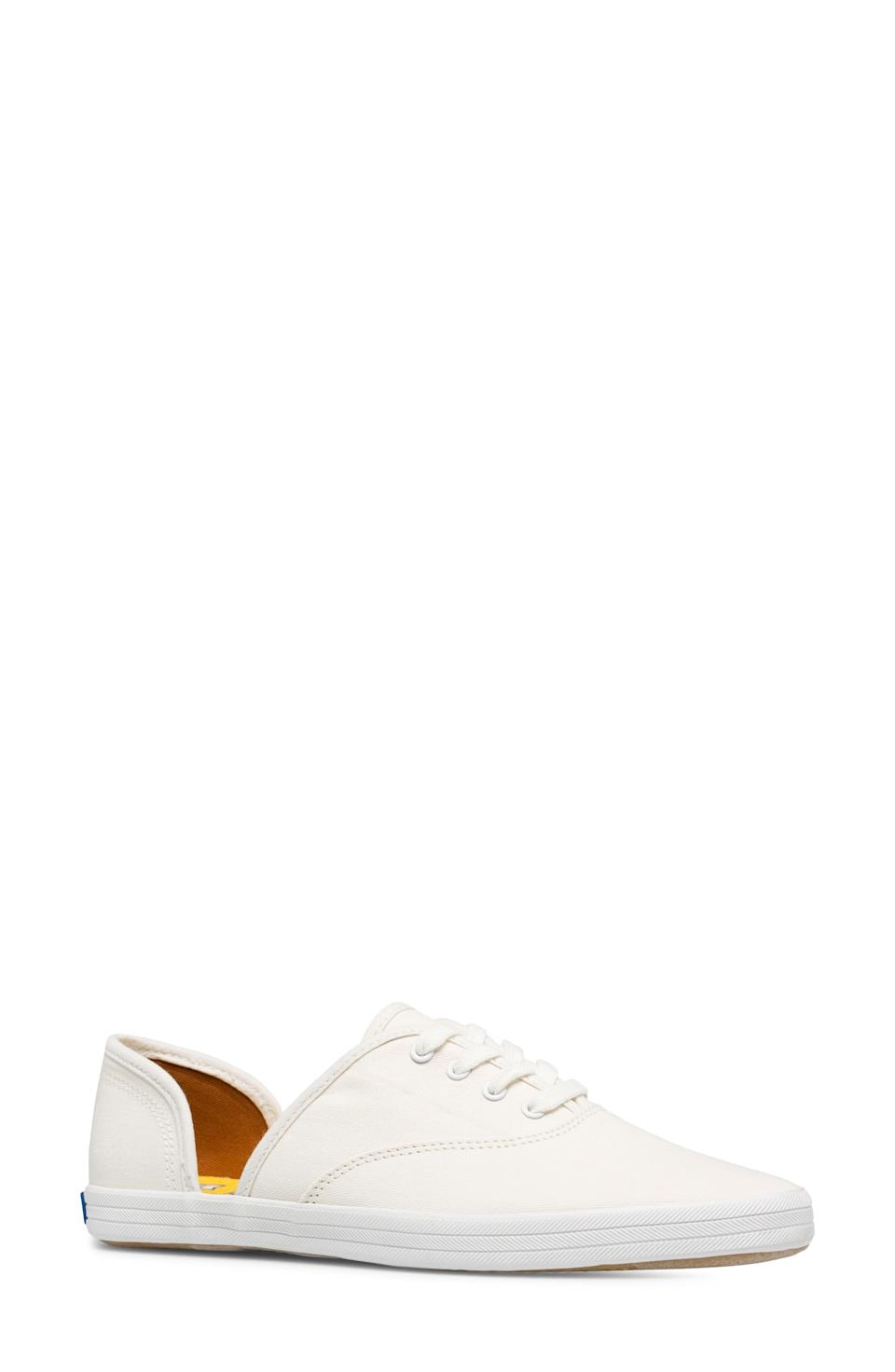 """<p><strong>Keds </strong></p><p>nordstrom.com</p><p><strong>$84.95</strong></p><p><a href=""""https://go.redirectingat.com?id=74968X1596630&url=https%3A%2F%2Fwww.nordstrom.com%2Fs%2Fkeds-vintage-champion-dorsay-sneaker-women%2F5583130&sref=https%3A%2F%2Fwww.townandcountrymag.com%2Fstyle%2Ffashion-trends%2Fg36200206%2Fsummer-shoes%2F"""" rel=""""nofollow noopener"""" target=""""_blank"""" data-ylk=""""slk:Shop Now"""" class=""""link rapid-noclick-resp"""">Shop Now</a></p><p>A d'Orsay cut adds a little something extra to a classic pair of white sneakers. </p><p><strong>More:</strong> <a href=""""https://www.townandcountrymag.com/style/g28073171/best-white-sneakers-for-women/"""" rel=""""nofollow noopener"""" target=""""_blank"""" data-ylk=""""slk:The Best White Sneakers"""" class=""""link rapid-noclick-resp"""">The Best White Sneakers</a></p>"""