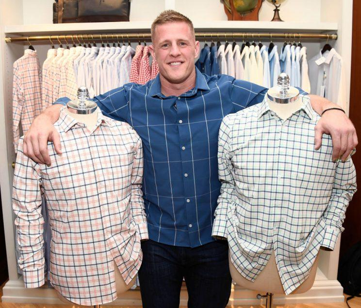 JJ Watt and brothers Derek and T.J. (not pictured) will be eating well this offseason. (Getty)