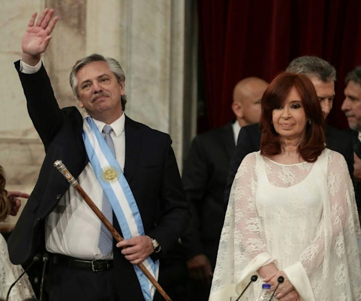 "It will be ""challenging"" for the new president to manage relations with his vice-president Cristina Fernandez de Kirchner (R), Argentina's president 2007-2015"