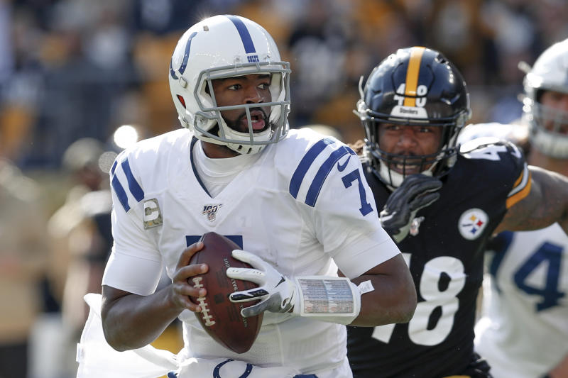 Indianapolis Colts quarterback Jacoby Brissett should return to the starting lineup on Sunday. (AP/Don Wright)