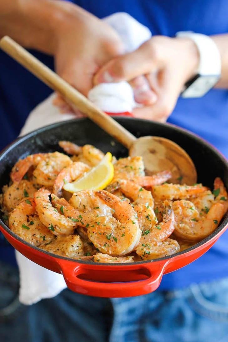 """<p>Make sure you have plenty of sliced baguette to serve with this <a href=""""http://damndelicious.net/2014/04/11/garlic-butter-shrimp/"""" class=""""link rapid-noclick-resp"""" rel=""""nofollow noopener"""" target=""""_blank"""" data-ylk=""""slk:garlic butter shrimp recipe"""">garlic butter shrimp recipe</a>; you'll want to mop up every last drop of its rich sauce.</p>"""