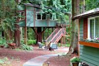 """<p>Nestled in the lush woods on Whidbey Island, just one hour north of Seattle, this getaway is built around a cedar tree, letting guests reside 13 feet above ground. The spacious, covered deck is guaranteed to be your favorite spot, with full-circle views of the surrounding trees and wildlife such as deer, owls, and eagles.</p><p><a class=""""link rapid-noclick-resp"""" href=""""https://www.airbnb.com/rooms/1062312"""" rel=""""nofollow noopener"""" target=""""_blank"""" data-ylk=""""slk:BOOK NOW"""">BOOK NOW</a> <strong><em>Octagon Tree Home</em></strong><br></p>"""