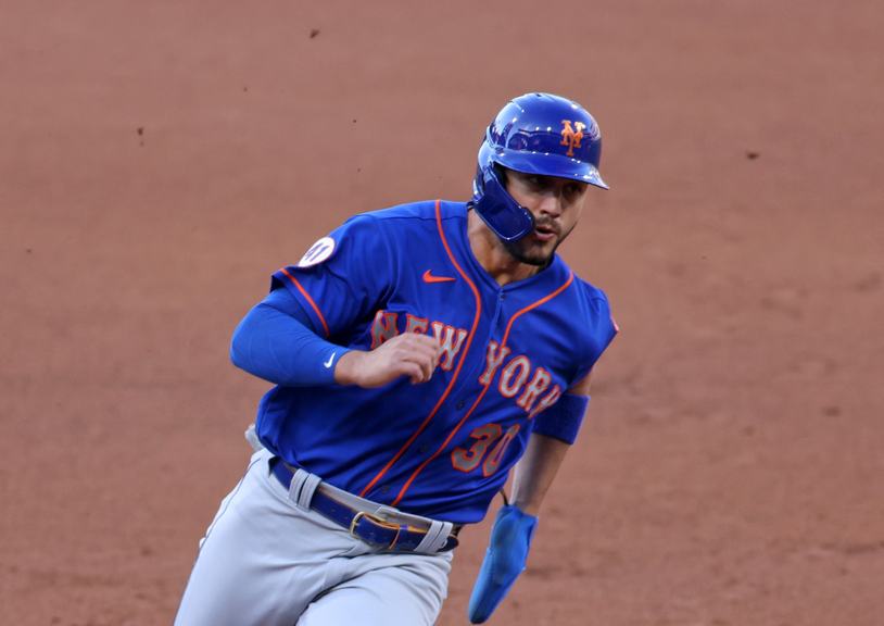 Conforto runs bases in Philly