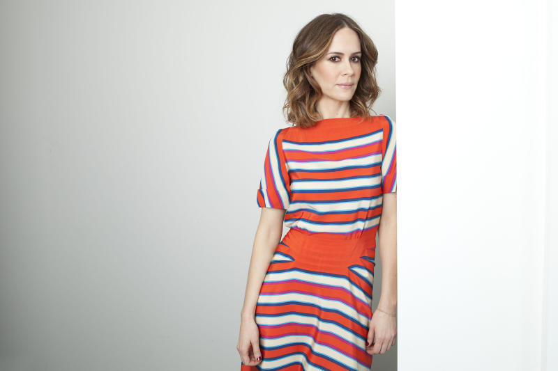 "This Jan. 18, 2013 photo shows actress Sarah Paulson posing for a portrait in New York. Paulson stars in the TV series, ""American Horror Story: Asylum,"" airing Wednesdays on FX. (Photo by Amy Sussman/Invision/AP)"