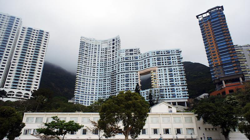 Repulse Bay is one of the most luxury area of Hong Kong. These building are for rich Hong Kong Citizens.
