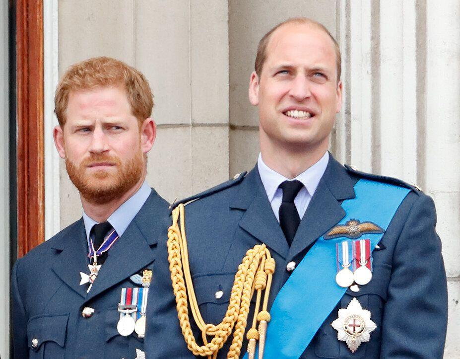 The Duke of Sussex and Duke of Cambridge mark the centenary of the Royal Air Force from the balcony of Buckingham Palace on July 10, 2018. (Photo: Max Mumby/Indigo via Getty Images)