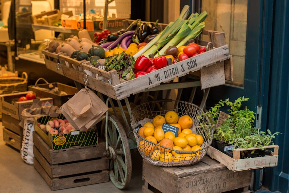 <p>Fresh to death: the Giddy Grocer's vegetable cart</p> (Giddy Grocer )