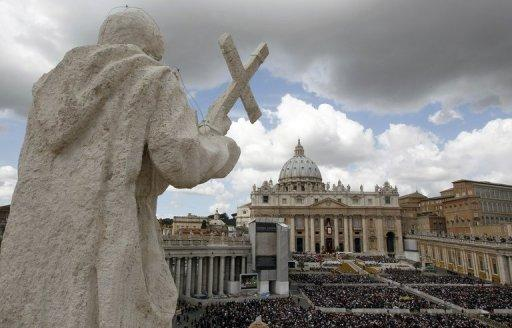A crowd gathers in St Peter's Square in the Vatican for Easter mass. The Catholic Church could have avoided much of the scandal that currently surrounds it if women had been in positions of power, says a feminist insider in the Church