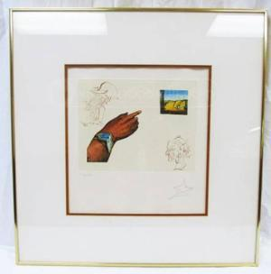 Signed sketch by Salvador Dali found at Goodwill