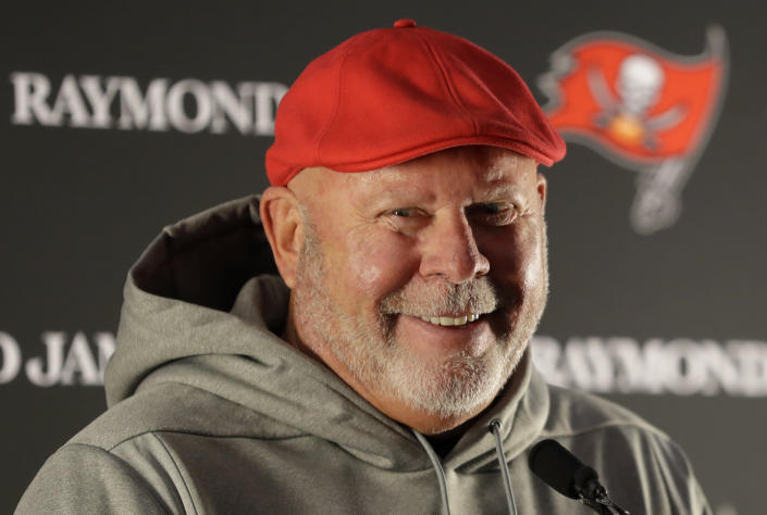Bruce Arians will receive the 2020 Champion for Equality award from the Women's Sports Foundation. (Kirsty Wigglesworth/AP)