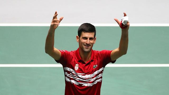 Thanks to Novak Djokovic and Filip Krajinovic, Serbia reached the Davis Cup quarter-finals alongside Great Britain and Germany.