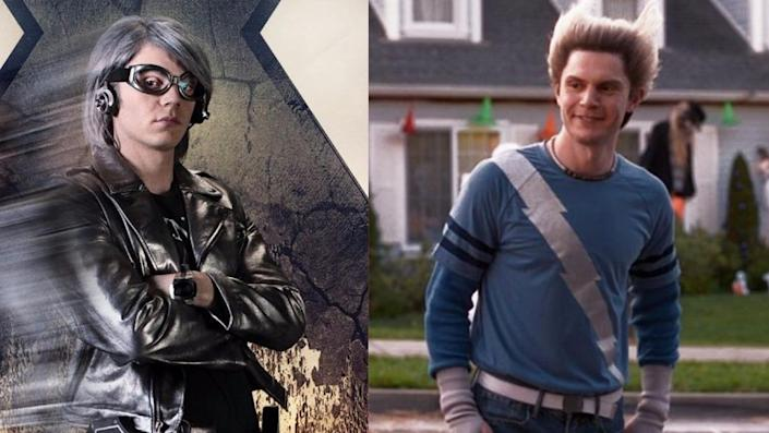 "Evan Peters as the X-Men's Quicksilver and as ""fake Pietro"" from WandaVision."