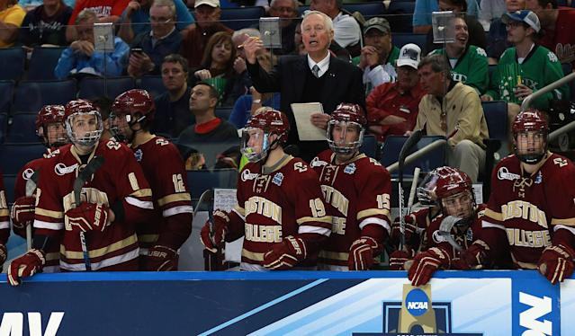 Jerry York, the winningest active coach in college hockey, was inducted to the Hockey Hall of Fame on Tuesday.