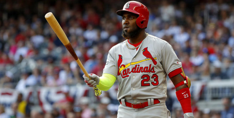 Marcell Ozuna would be an option for the Blue Jays if they're wiling to spend some money. (Kevin C. Cox/Getty Images)