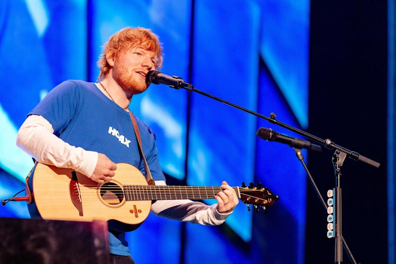 Ed Sheeran at Miller Park on October, 24 2018, in Milwaukee, Wisconsin (Photo by Daniel DeSlover/Sipa USA)