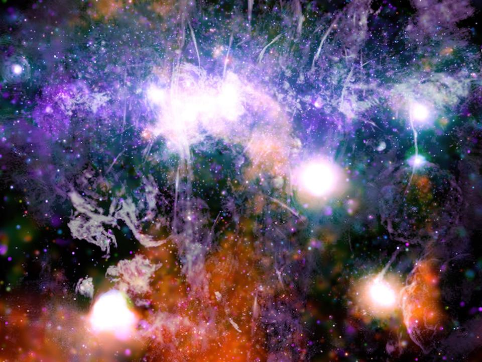 <p>New release shows energy created by threads of superheated gas and magnetic fields at centre of galaxy</p> (EPA)