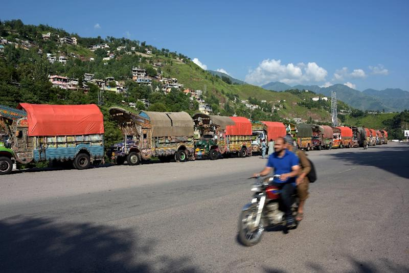 The cross-border trade began in 2008 as a way to improve strained relations between New Delhi and Islamabad (AFP Photo/Sajjad QAYYUM)