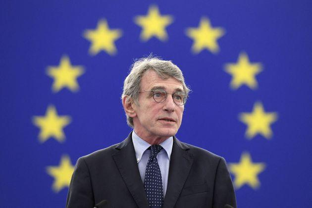 European Parliament President David Sassoli speaks during the opening of the plenary session of the European Parliament in Strasbourg on June 7, 2021. (Photo by FREDERICK FLORIN / POOL / AFP) (Photo by FREDERICK FLORIN/POOL/AFP via Getty Images) (Photo: FREDERICK FLORIN via Getty Images)