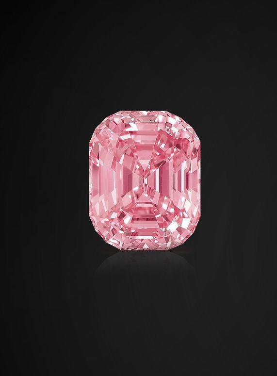 """<p>Described as one of the greatest diamonds ever discovered, the rare, 23.88-carat diamond boasts a vivid pink color and is touted as internally flawless. The origins of the brilliant gem are unknown, but it eventually landed in the collection of renowned jeweler Harry Winston in the 1950s. The jewel was never seen in public again until 2010 when it went up for auction by <a href=""""https://www.sothebys.com/en/"""" target=""""_blank"""">Sotheby's</a>. Diamond dealer Laurence Graff purchased the stone for an astonishing $46 million.</p>"""