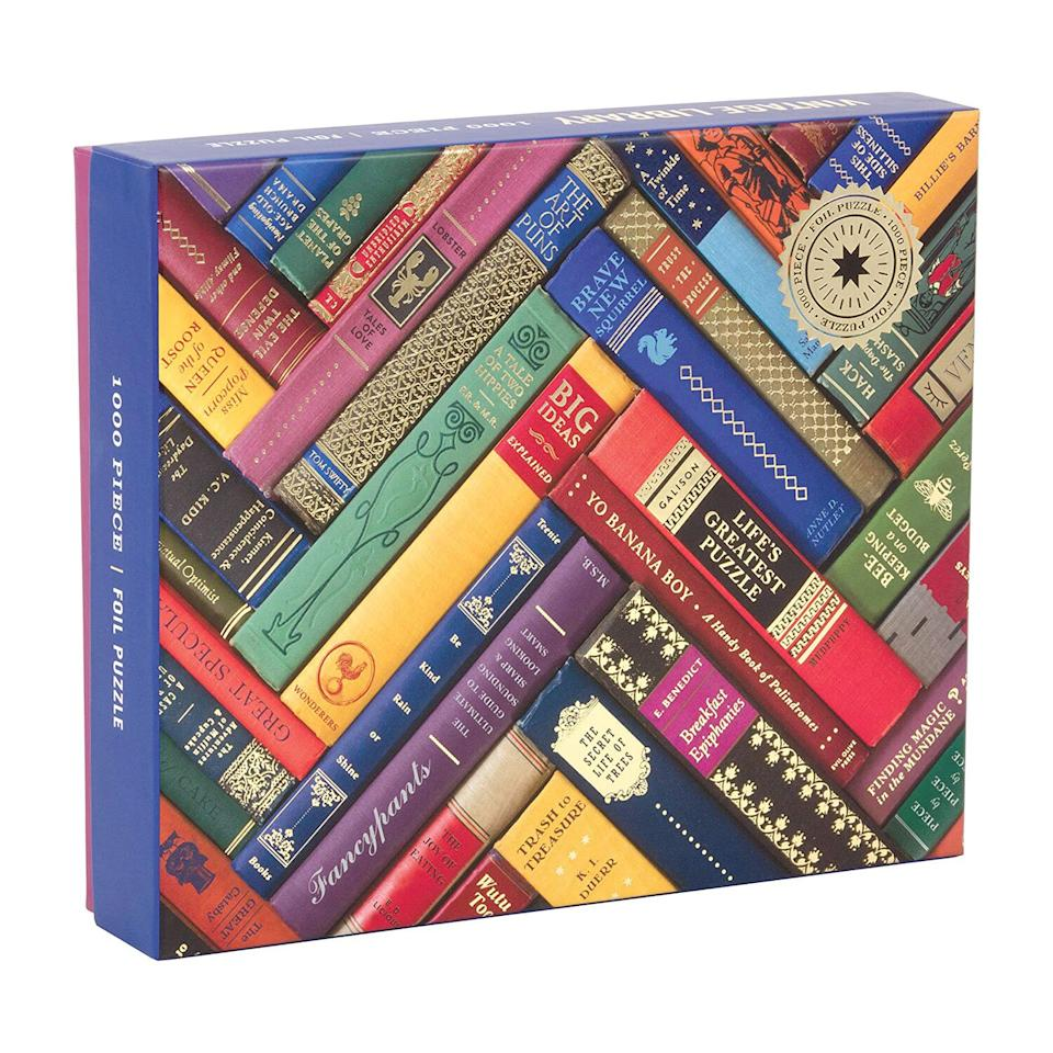 "<p>True bibliophiles know nothing beats the smell of old books, but this vibrant 1,000-piece puzzle featuring a design of elaborate vintage book bindings may be a close second. </p> <p><strong>To buy</strong>: $11 (was $20); <a href=""http://goto.walmart.com/c/249354/565706/9383?subId1=RS%2CThe10BestPuzzlesForAdultstoDe-StressandStayOccupiedatHome%2Cjmastrop%2CCRA%2CIMA%2C697376%2C202003%2CI&u=http%3A%2F%2Fwww.walmart.com%2Fip%2FGalison-Phat-Dog-Vintage-Library-1000-Piece-Foil-Stamped-Jigsaw-Puzzle%2F391749028"" target=""_blank"">walmart.com</a>. </p>"