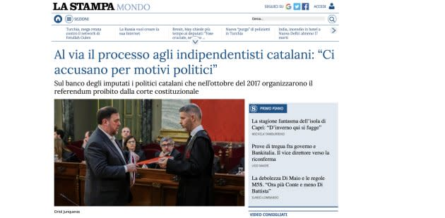 Captura de 'La Stampa'