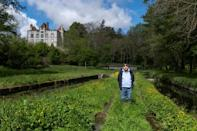 Pierre Grodecoeur outside his home in Les Moulins Blanc, where a stream once as deep as his knee now sometimes runs dry