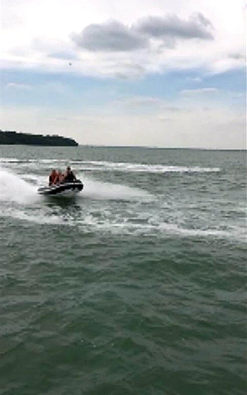 The Rib was capable of speeds of up to 40mph - Credit: Hampshire Police