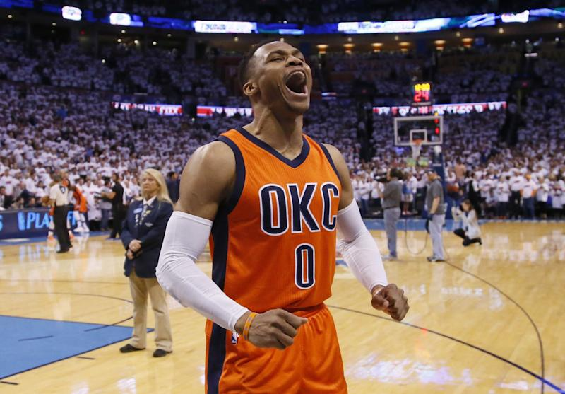 Russell Westbrook is your 2016-17 NBA Most Valuable Player. (AP)