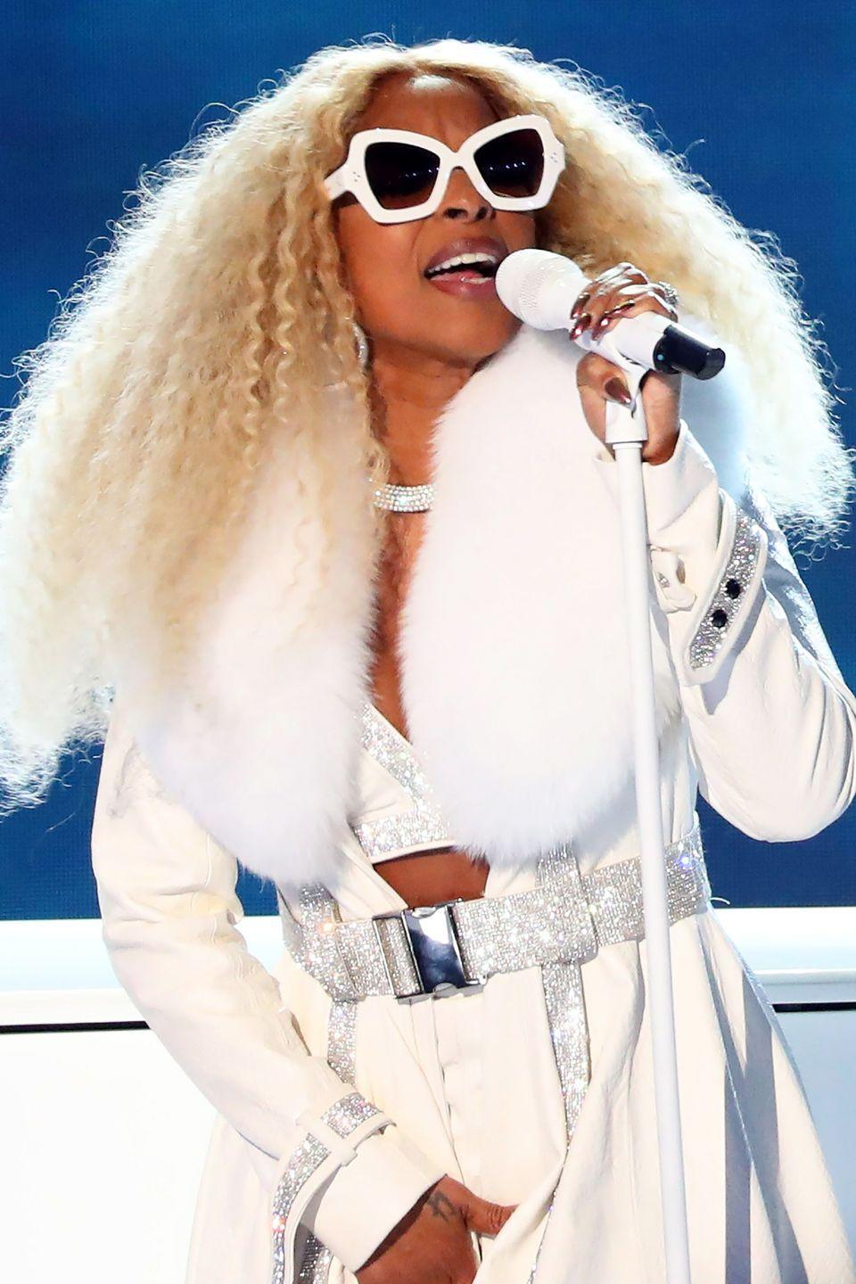 """<p>""""This was a big night for both me and my fans. I was both performing and accepting a Lifetime Achievement award. I had never really done big hair my entire career because I had always been nervous, but I wanted to be bold. I felt free. I just wanted everybody to know that I don't care what you think. This is what I'm doing.""""</p>"""