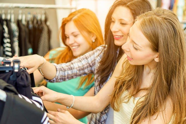 """<span class=""""caption"""">Reduce, reuse, recycle.</span> <span class=""""attribution""""><a class=""""link rapid-noclick-resp"""" href=""""https://www.shutterstock.com/image-photo/young-happy-women-doing-shopping-weekly-565912315"""" rel=""""nofollow noopener"""" target=""""_blank"""" data-ylk=""""slk:Shutterstock."""">Shutterstock.</a></span>"""