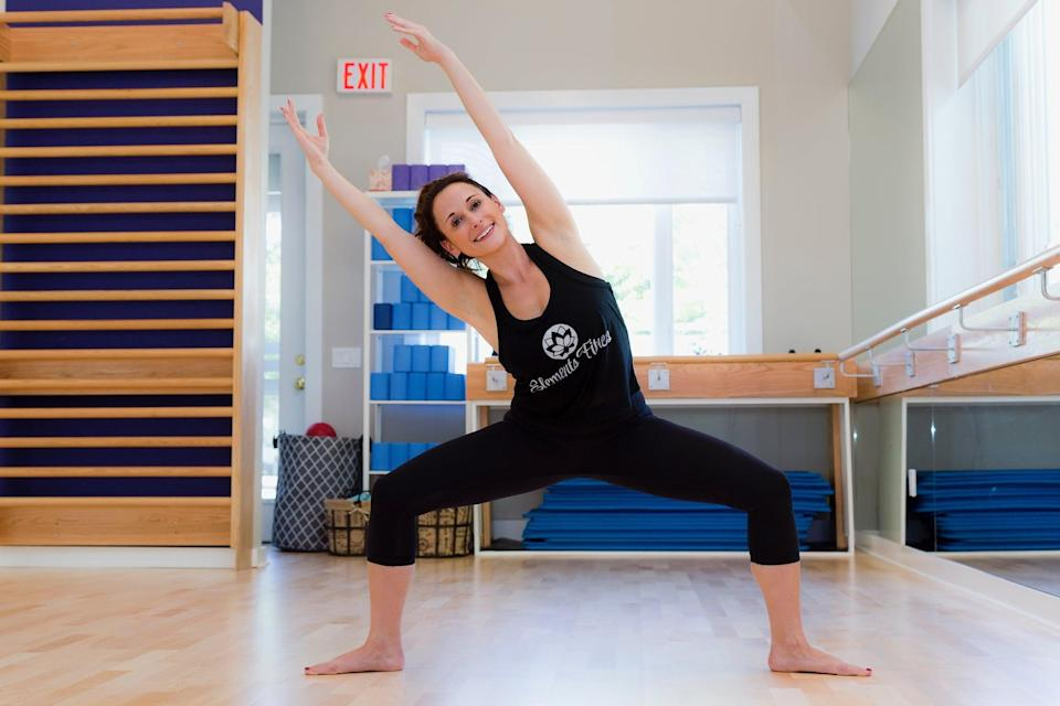 "<p>""Wide second is one of mine and Element Fitness Studio's all-time favorite positions,"" said Andrea Fornarola, an ACE- and AFAA-certified personal trainer and founder of Elements Fitness Studio. ""It is a great total-body exercise, but especially awesome for the glutes! After doing this exercise just a few times during your workout you will really start to feel your glutes lift and tone.""</p> <ul> <li>Stand with your legs wider than your hips, and rotate your legs out to either side in a naturally turned out position.</li> <li>Draw your hips down to knee level and feel the thighs and glutes engage.</li> <li>Begin to squeeze the thighs and butt towards the back of the room to work the tops of the thighs and the glutes.</li> <li>Repeat this in sets of 20 to 30, a few times throughout your workout.</li> </ul>"