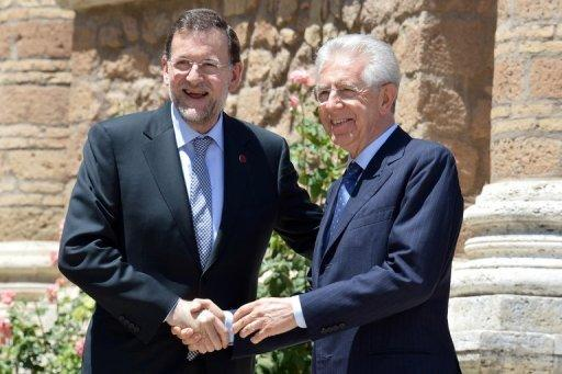 Italy PM Monti to visit Madrid for euro talks