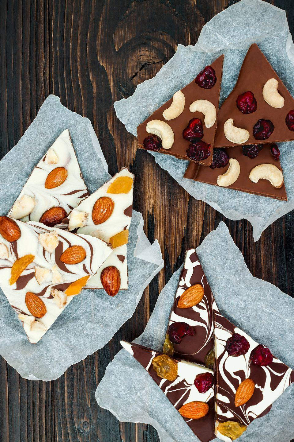 """<p>The sweetest thing about these sweet treats? You know everything that went into them.</p><p><strong><a href=""""https://www.countryliving.com/food-drinks/recipes/a32386/marbled-chocolate-bark-recipe-122506/"""" rel=""""nofollow noopener"""" target=""""_blank"""" data-ylk=""""slk:Get the recipe"""" class=""""link rapid-noclick-resp"""">Get the recipe</a>.</strong></p>"""