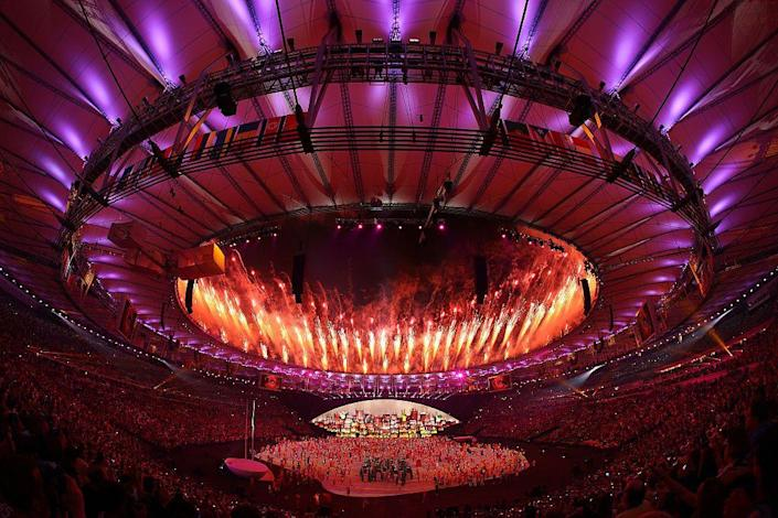 <p>At the 2016 Summer Olympics in Rio de Janeiro, Brazil, fireworks exploded over the stadium during the opening ceremony. </p>